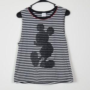 Disney Striped Shadow Mickey Mouse Tank Top XL
